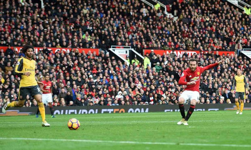 Mata akifunga goli la kuongoza dhidi ya Arsenal