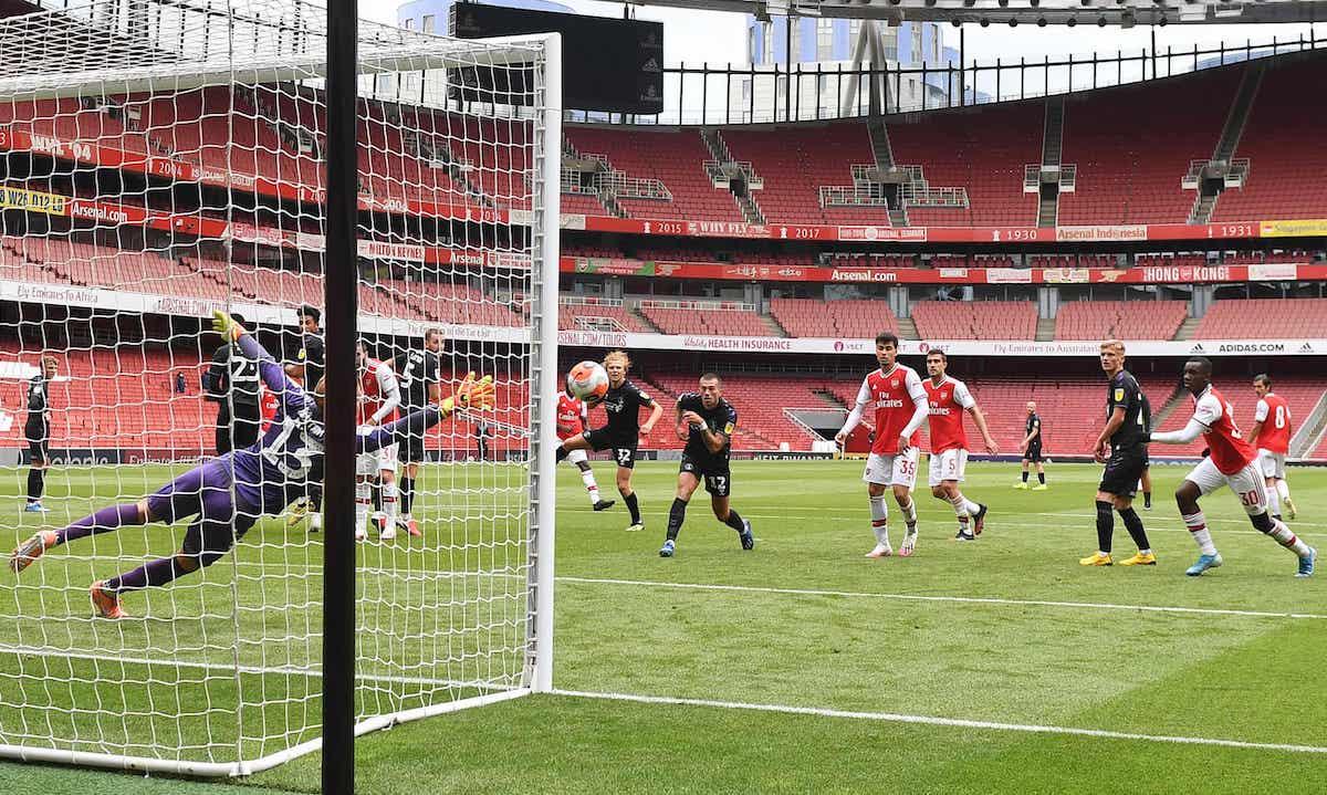 Timu ya Arsenal kwenye mchezo wa kirafiki