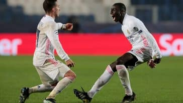 Ferland Mendy celebrates his strike